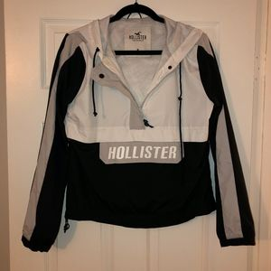 Hollister | Mesh-Lined Quarter Zip Windbreaker | M